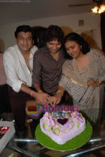 Amit Kumar, Kishore Kumars son Sumit Kumar and wife Leena Chandavarkar gives approval to make a biopic film on Kishore Kumar by UTV in Kishore Kuamr_s residence on August 4th 2008 (22).JPG