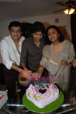 Amit Kumar, Kishore Kumars son Sumit Kumar and wife Leena Chandavarkar gives approval to make a biopic film on Kishore Kumar by UTV in Kishore Kuamr_s residence on August 4th 2008 (25).JPG