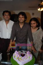 Amit Kumar, Kishore Kumars son Sumit Kumar and wife Leena Chandavarkar gives approval to make a biopic film on Kishore Kumar by UTV in Kishore Kuamr_s residence on August 4th 2008 (10).JPG