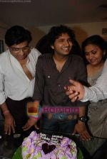 Amit Kumar, Kishore Kumars son Sumit Kumar and wife Leena Chandavarkar gives approval to make a biopic film on Kishore Kumar by UTV in Kishore Kuamr_s residence on August 4th 2008 (14).JPG