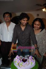 Amit Kumar, Kishore Kumars son Sumit Kumar and wife Leena Chandavarkar gives approval to make a biopic film on Kishore Kumar by UTV in Kishore Kuamr_s residence on August 4th 2008 (9).JPG