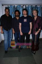Sandeep Chowta with leading musicians drummer Virgil Donati and guitarist Brett Garsed at musical event in St Andrews on 8th August 2008 (4).JPG