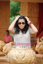 Ekta Kapoor on the sets of Mahabratha on the occasion of Janmashtami in Film City on August 24th 2008 (13).JPG
