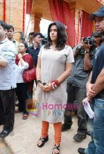 Ekta Kapoor on the sets of Mahabratha on the occasion of Janmashtami in Film City on August 24th 2008 (18).JPG