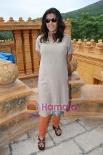 Ekta Kapoor on the sets of Mahabratha on the occasion of Janmashtami in Film City on August 24th 2008 (4).JPG