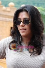 Ekta Kapoor on the sets of Mahabratha on the occasion of Janmashtami in Film City on August 24th 2008 (8).JPG