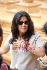 Ekta Kapoor on the sets of Mahabratha on the occasion of Janmashtami in Film City on August 24th 2008 (9).JPG