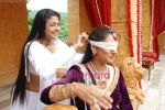 Tasneem Sheikh on the sets of Mahabratha on the occasion of Janmashtami in Film City on August 24th 2008 (9).JPG