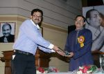 6(300708)-Dr. Ravi Sharma being greeted by Shri S.P.Dwivedi, Executive Member, RFMS.jpg