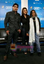 Vansh Bhardwaj, Preity Zinta, Deepa Mehta at the Heaven On Earth press conference in Toronto International Film Festival held at the Sutton Place Hotel on September 6, 2008 in Toronto, Canada (4).jpg