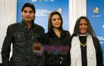 Vansh Bhardwaj, Preity Zinta, Deepa Mehta at the Heaven On Earth press conference in Toronto International Film Festival held at the Sutton Place Hotel on September 6, 2008 in Toronto, Canada (3).jpg