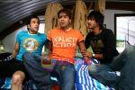 Tusshar Kapoor, Ajay Devgan, Shreyas Talpade in the Still from movie Golmal Returns (12).jpg