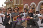 Tusshar Kapoor, Ajay Devgan, Shreyas Talpade in the Still from movie Golmal Returns (2).jpg