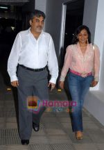 pradeep jethwani with wife at the poison Relaunch Bash on 16th October 2008 .JPG