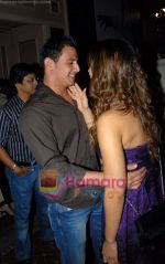 Kim Sharma with her boyfriend at Arjun Khanna bash in Trident on 22nd October 2008 (2).JPG