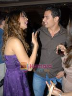 Kim Sharma with her boyfriend at Arjun Khanna bash in Trident on 22nd October 2008 (5).JPG