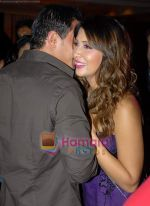 Kim Sharma with her boyfriend at Arjun Khanna bash in Trident on 22nd October 2008 (7).JPG