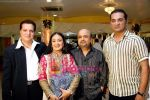 Jatin Pandit,  Jasvinder Narula, Sameer & Abhijeet at the Celebration of Jaspinder Narulas doctorate in music on 18 th November 2008 .JPG