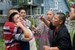 Doua Moua, Bee Vang, Sonny Vue, Elvis Thao in still from the movie Gran Torino.jpg