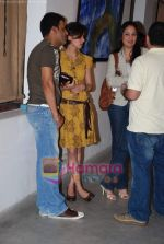 Manoj Bajpai with wife Neha at Prakash Bal Joshi art exhibition in Kitab Mahal on 22nd December 2008 (2).JPG