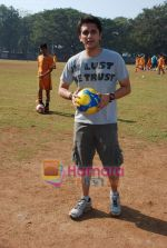 Mohit Suri at the event to promote football training at Jamnabhai  grounds in juhu on 29th December 2008 (6).JPG