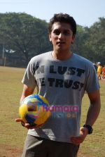 Mohit Suri at the event to promote football training at Jamnabhai  grounds in juhu on 29th December 2008 (8).JPG