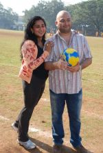 Raju Singh and wife Sherley Singh at the event to promote football training at Jamnabhai  grounds in juhu on 29th December 2008 (2).JPG