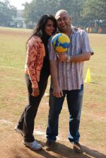 Raju Singh and wife Sherley Singh at the event to promote football training at Jamnabhai  grounds in juhu on 29th December 2008.JPG