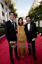 Anil Kapoor, Freida Pinto, Dev Patel at the 66th Annual Golden Globe Awards in Hollywood, CA on January 9th 2009 (3).jpg