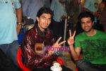 Harman Baweja, Ishant Sharma at the Shooting of for FLY mobile in Click Nixon, Saki Naka on 19th Jan 2009 (5).JPG