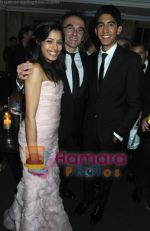 Dev Patel, Danny Boyle, Freida Pinto at BAFTA After party in Soho House and Grey Goose on 9th Feb 2009 (2).JPG