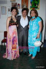 Govinda with daughter Namrata and wife at Bharat Dorris Hair and Makeup Fashion week 2009 on 12th Feb 2009 (2).JPG