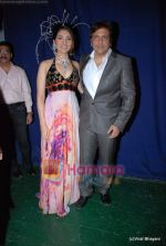 Govinda with daughter Namrata at Bharat Dorris Hair and Makeup Fashion week 2009 on 12th Feb 2009 (2).JPG