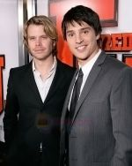 Eric Christan Olsen, Nicholas D_Agosto at the premiere of movie FIRED UP on February 19, 2009 in Culver City, California.jpg