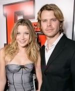 Sarah Roemer and Eric Christian Olsen at the premiere of movie FIRED UP on February 19, 2009 in Culver City, California.jpg