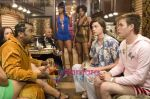 Craig Robinson, Zach Cregger, Tanjareen Martin, Trevor Moore in still from the movie Miss March.jpg