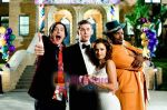 Raquel Alessi, Craig Robinson, Zach Cregger, Trevor Moore in still from the movie Miss March.jpg