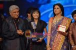 Javed Akhtar, Sourabhee Debbarma, Sonali Bendre at the Grand finale of Indian Idol Season 4 in Mumbai on 2nd March 2009 (2).JPG
