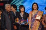 Javed Akhtar, Sourabhee Debbarma, Sonali Bendre at the Grand finale of Indian Idol Season 4 in Mumbai on 2nd March 2009 (42).JPG