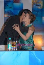 Kylie Minogue, Zayed Khan at the Press Conference of the film Blue in Rennaissance Hotel, Powai on 6th March 2009 (2).JPG