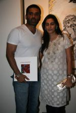 Sunil Shetty, Mana Shetty at Shobojit Kaushal art event organised by CPAA in Worli on 23rd March 2009 (2).JPG