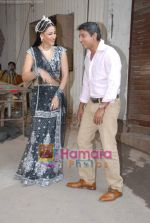 Rakshanda Khan, Ajay Jadeja on the sets of Comedy Circus in Andheri on 25th March 2009 (3)~0.JPG