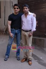 Shekhar Suman, Ajay Jadeja on the sets of Comedy Circus in Andheri on 25th March 2009 (124).JPG