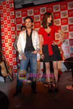 Raghav and Shruti at Raghav Sanchar and Shruti Hassan_s launch album with Cornetto in Taj Land_s End on 1st April 2009 (4).JPG