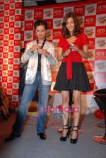 Raghav and Shruti at Raghav Sanchar and Shruti Hassan_s launch album with Cornetto in Taj Land_s End on 1st April 2009 (5).JPG