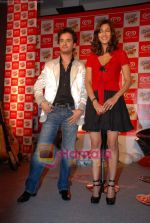 Raghav and Shruti at Raghav Sanchar and Shruti Hassan_s launch album with Cornetto in Taj Land_s End on 1st April 2009 (7).JPG