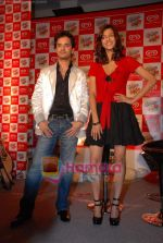Raghav and Shruti at Raghav Sanchar and Shruti Hassan_s launch album with Cornetto in Taj Land_s End on 1st April 2009 (9).JPG