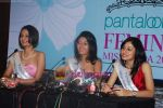 Ekta Chaudhury, Shriya Kishore, Pooja Chopra at Femina Miss India winners press meet in Sahara Star on 6th April 2009 (10).JPG