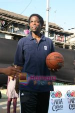 A C Green pose at opening of NBA_s basketball court in Nagpada, Mumbai on 8th April 2009 (12).JPG