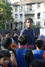 A C Green pose at opening of NBA_s basketball court in Nagpada, Mumbai on 8th April 2009 (16).JPG